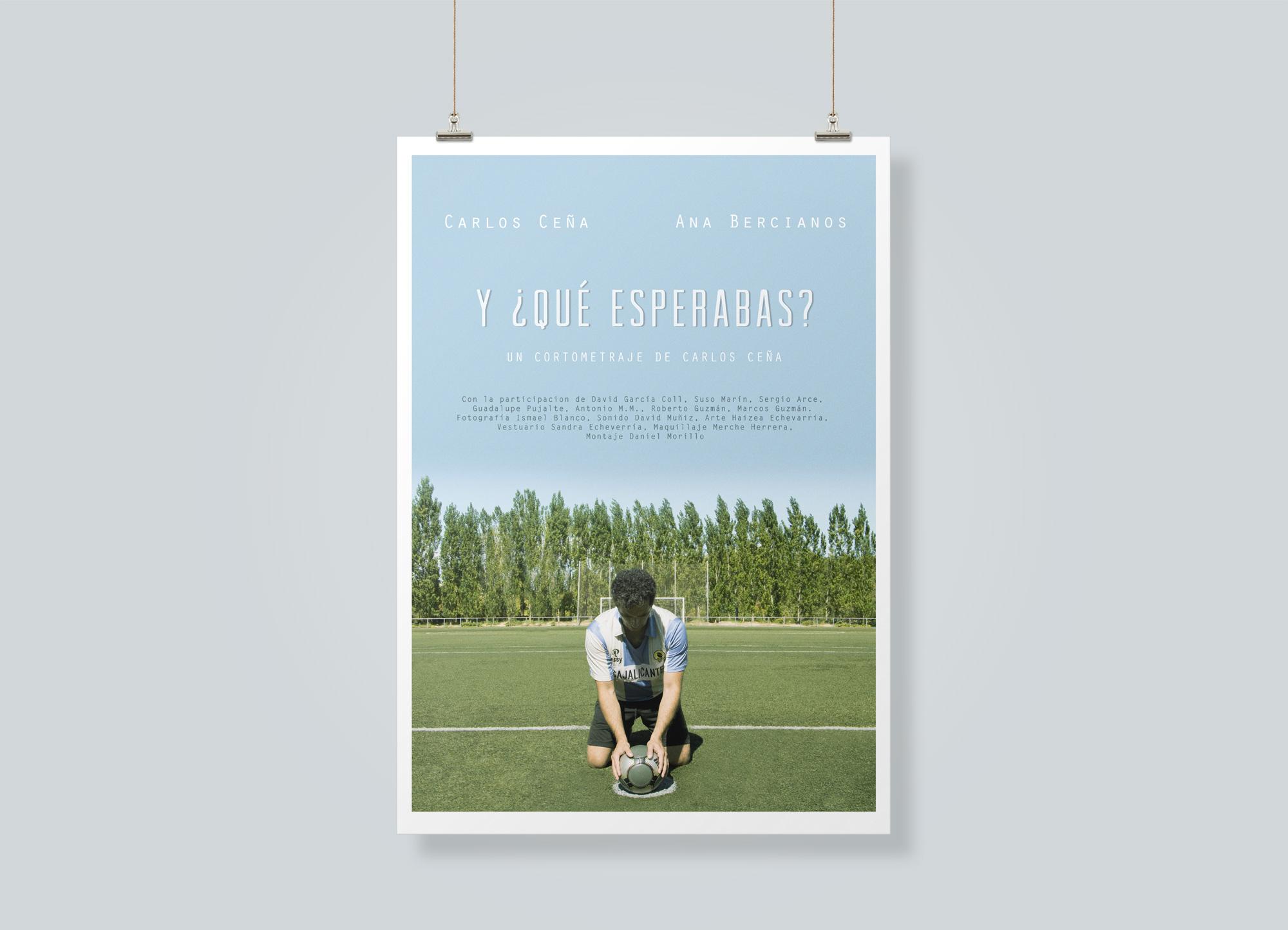 Poster short film Y qué esperabas?