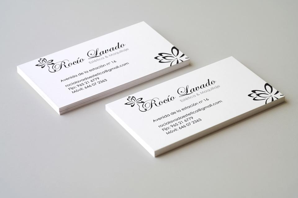 Business card - client Rocio Lavado