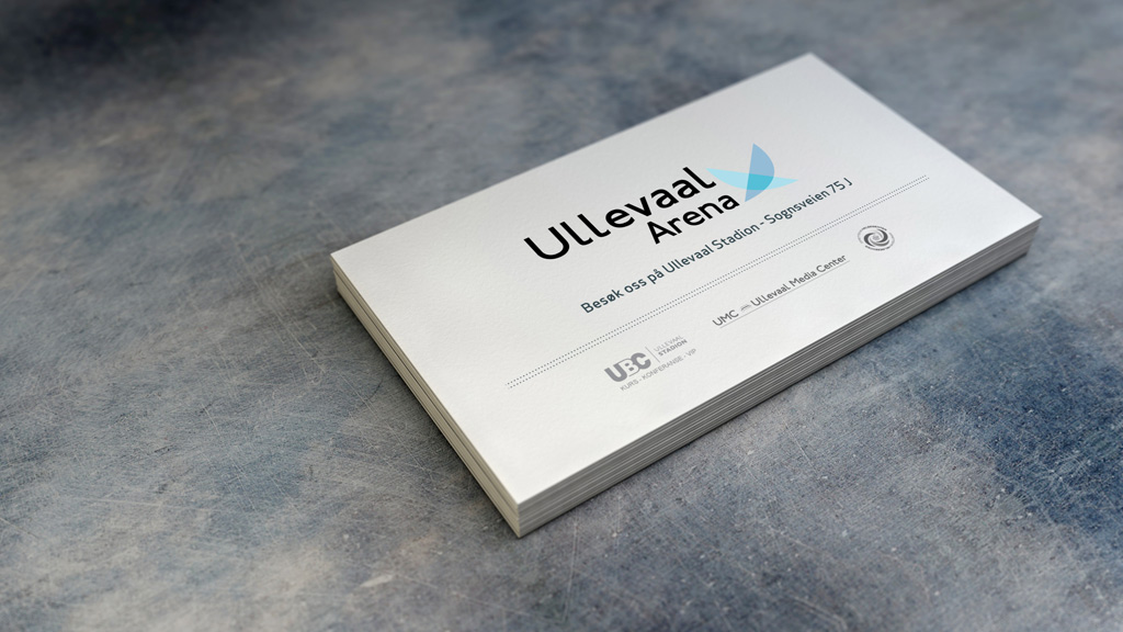 Business card - client Ullevaal arena